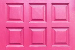 Close up Background Detail of pink wood door