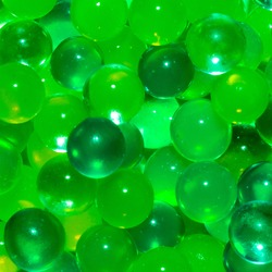 Close up Background of Green Jelly Beads