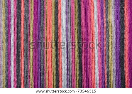 close up background texture of striped knitted texture - stock photo