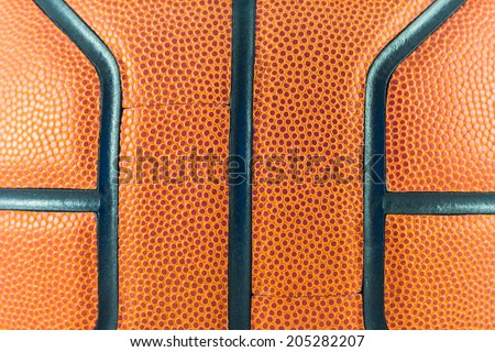 Close up basketball  background