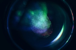 Close up beautiful abstract colored fingerprint on  background texture for design. Macro photography view.
