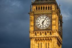 Close up Big Ben at early morning 6 o'clock, London, UK