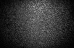 Close up black luxury seats leather material texture details background from car