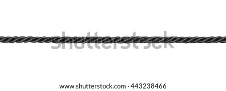 close up black of rope isolated on white background #443238466