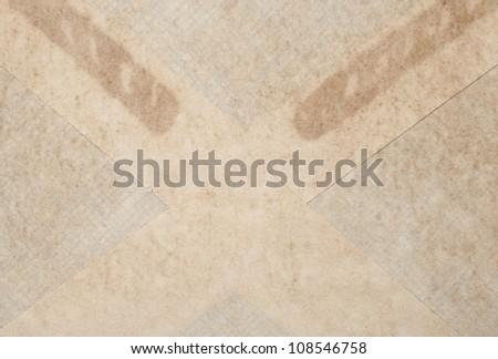 close up, brown Envelope detail