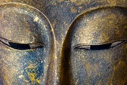 Close-up Buddha statue Face