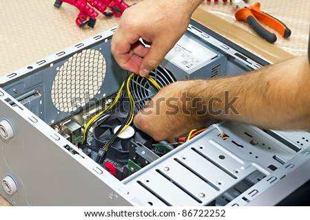 close up Build a PC builder