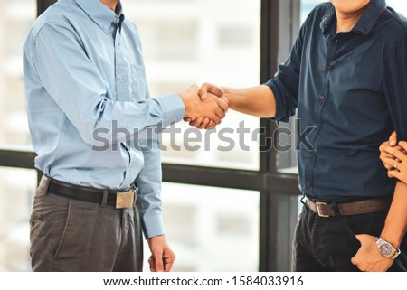 Close up businessman Shake hands,People hands shake agree business