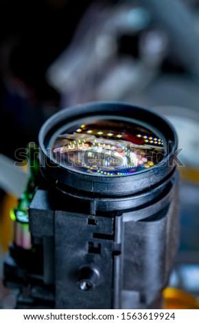 close up camera lens, camera lens background