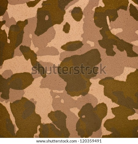 Close up camouflage texture artificial leather.