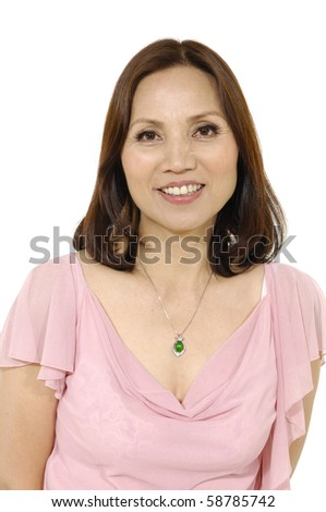 Close up casual woman smiling