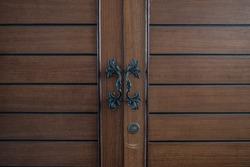 Close up classic door of closet.