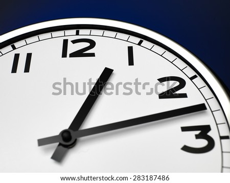 Close up clock face at 12 O\'Clock