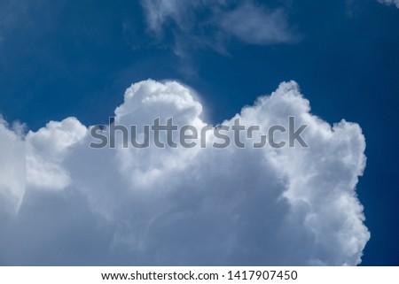 Close up clouds in blue sky before rain #1417907450