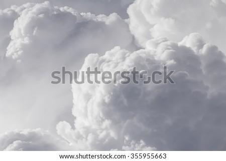 Close up clouds in  sky before rain - Shutterstock ID 355955663