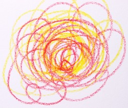 close-up colorful scribble abstract background