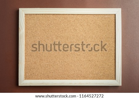 Close up Cork Bord for presentation work. copy space for text. Photo stock ©