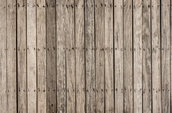 close up decorative background of  old wooden  bridge floor