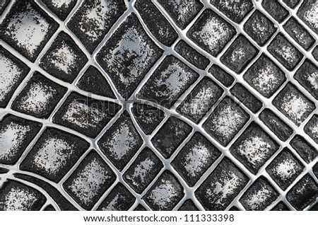 close up decorative metal surface abstract background