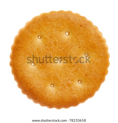 Close up delicious cookie - isolated on white background