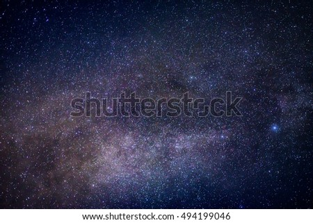 close up detail from the milky way with  stars  field #494199046