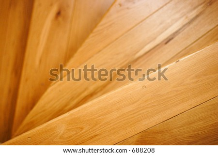 close up detail of wooden stair case