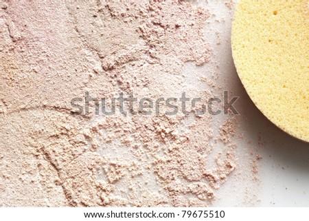 close up detail shot of a  powder maker up