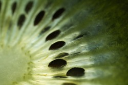 Close up detail shot of Kiwi fruit
