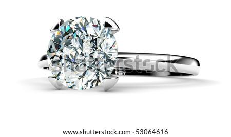 Close Up Diamond Ring