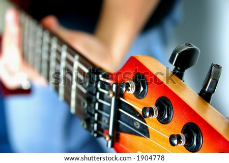 Close-up electric guitar.