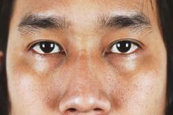 close up eyes of asian men