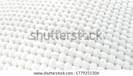 Close-up fabric fiber. Fibers with a spiral surface And that surface is a wave. 3D illustration.