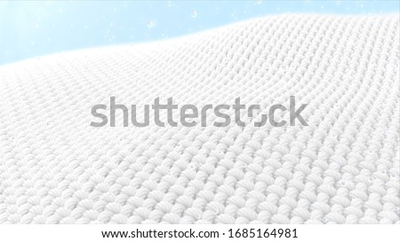 Close-up fabric fiber in underwater. fiber with spiral surface with bubble air floating up. and the Surface is a waving. 3d rendering.