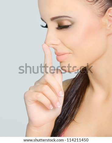Thumb the size of your nose