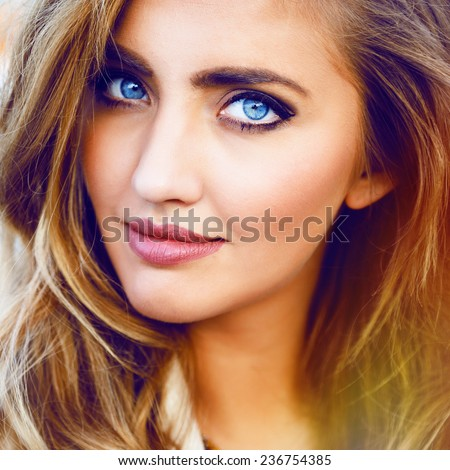 Hot girls with blonde hair and blue eyes