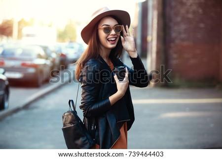 close up fashion woman portrait ...