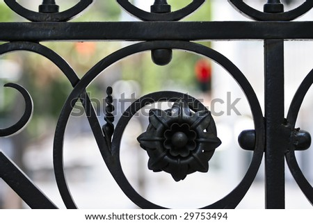 Close Up Fence Decoration
