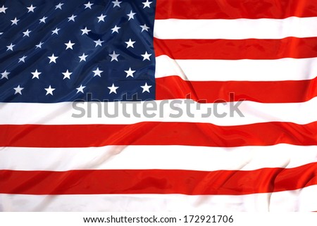 close up flag USA
