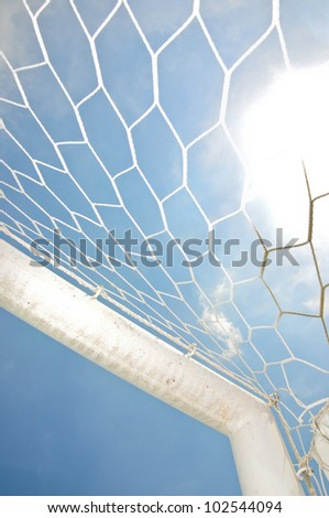 Close up football goal