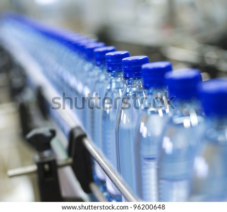 Close up from a bottle industry