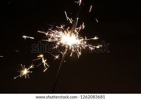 close up from a sylvester sparkler #1262083681