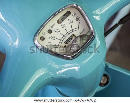 close up fuel gauge , Oil gauge needle show empty