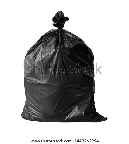 close up garbage bag on white background clipping path Stock photo ©