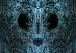 close up gnarl look like alien face