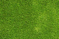 Close-up green artificial grass textur