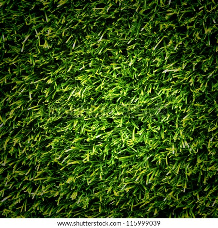 Close-up green artificial turf pattern