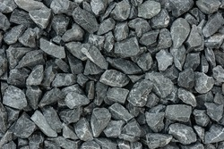 close up grey granite gravel background for mix concrete in construction industrial