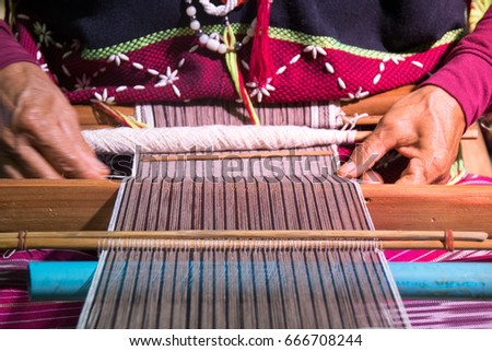 Shutterstock Close up Hand-made weaving of the Karen tribe