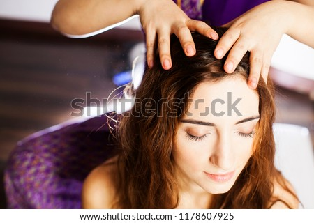 Photo of  Close-up head massage
