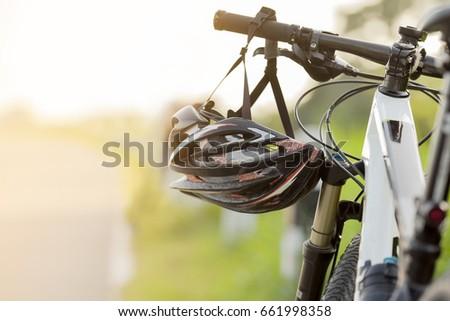 close up helmet bike